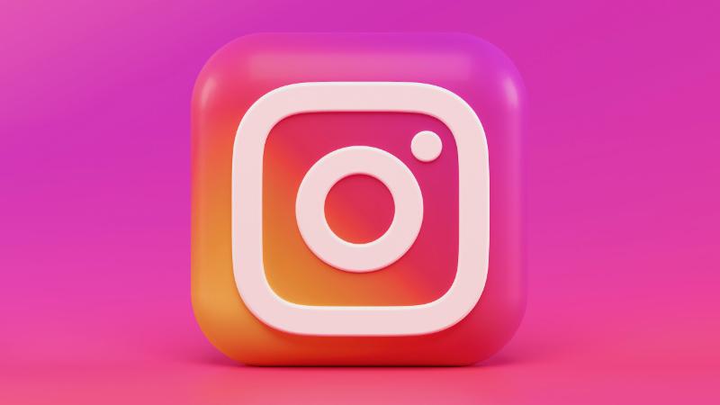 Instagram Logo with background