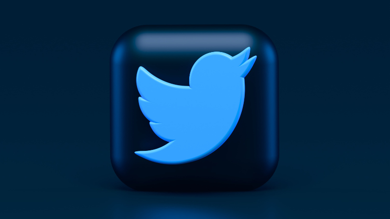 Twitter Logo with background